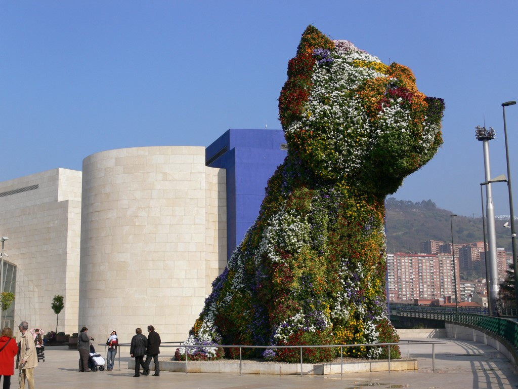 visitar Bilbao puppy guggenheim
