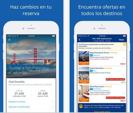 booking aplicaciones de viajes