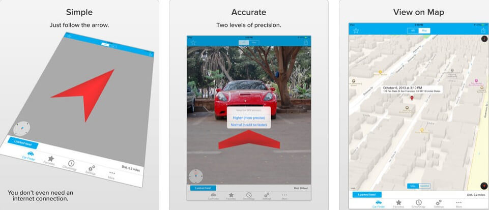 aplicaciones realidad aumentada car finder